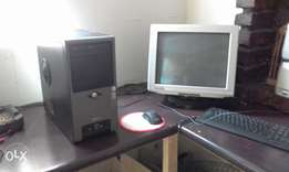complete computer tower,screen,keyboard and cordless mouse for sale