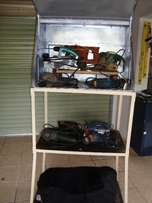 Toolbox and shelves. 1.8 m on wheels