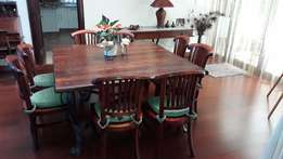 Dinning room table, 8 seater, and side board. From Wetherlys