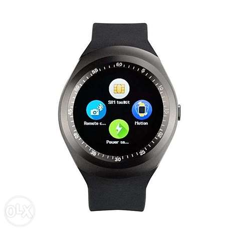 Y1 Sporty Smart Phone Touchscreen Watch With Sim ToolKit (Mpesa Menu) Nairobi CBD - image 2