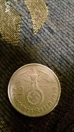 Nazi Hitler German Silver Coin WW II year 1939عملة المانية نازية