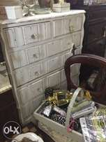 French whire chest of drawers ar Hey Judes Barn