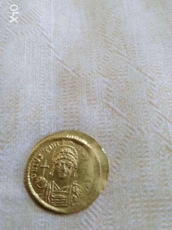 Ancient Byzantine Gold Coin for Emperor Justinan I year 527 AD
