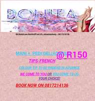 Nail Salon Manicure & Pedicure gell nails West Rand