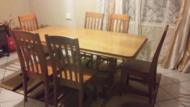 7 Piece Dining room table with 2 piece Sideboard and Hostess Centurion - image 1