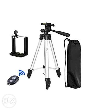 (1$=1500) Tripod For Camera and mobile With Bluetooth Wireless Remote