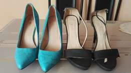 Affordable slightly used high heels black 39,blue 40 Cheap