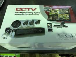 cctv 4 channel hdmi kit complete new