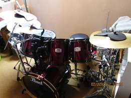 Drum kit & assessories for sale