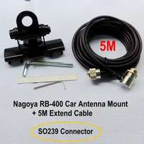 Mobile Radio Antenna Mount + 5M Extend Cable