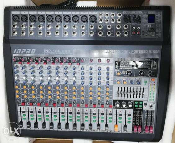 mixer powered 1400w,16 input,2 aux,2 group,usb,bluetooth,255 effect