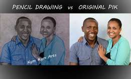 Get a high quality art work of you A4 size 2500 kshs only A3 size 4000