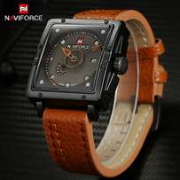 Navy force brown black dial square