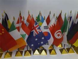 Kenya outdoor and indoor flags and stands and any other country flags