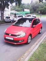 Polo 6 1.4 2013 Model Red in color Leather interior 47000km R165000