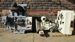 3 Cyl air cooled deutz engine+compressor+cooler