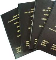 hardcover binding and printing with Golden writing on top