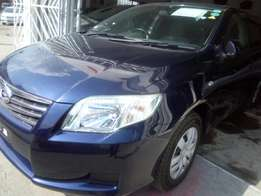 Newly imported Blue Toyota Axio