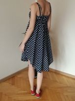 96d278931e Sukienka w groszki kropki na ramiączkach retro