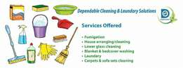 Dependable cleaning & Laundry Solutions