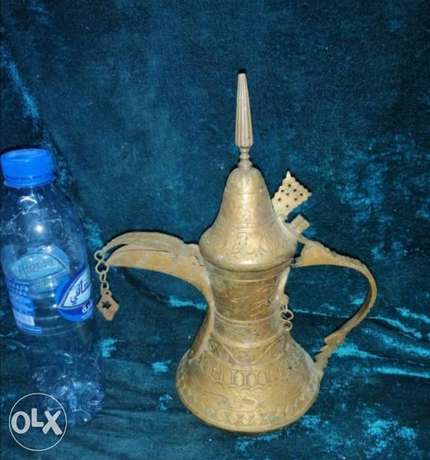 A beautiful ancient traditional copper dallah