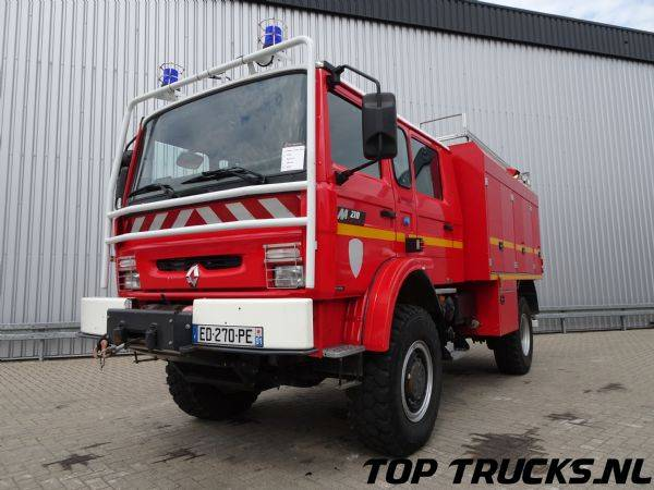 Renault M210 4x4 water 3.000 ltr - additief/foam 60 ltr brandweer... - 2002