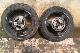 Jonway rims and tyres R400