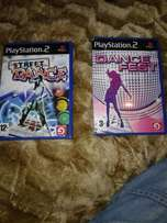 2 x playstion 2 games for dancing