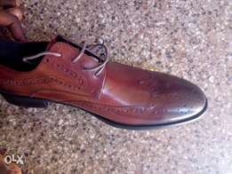 Mens Brown Classic Oxford Genuine Leather Formal Business Suit Shoes