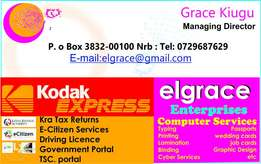 All type of printing; Job/wedding cards, invoice/receipt books etc