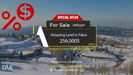 Land in the heart of Faqra with Panoramic Mountain View أرض في فقرا