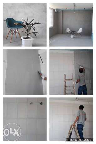 Micro Cement Wall & Floor Finishes Work Bahrain