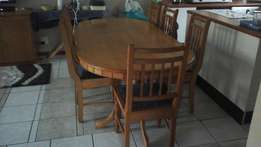 Dinning room tables and chairs with side draw