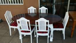 Dinning room set white