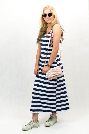 9d1e5f9eb87098 sukienka maxi w paski dluga na ramiaczkach House H&M Zara sportowa Rumia -  image 1