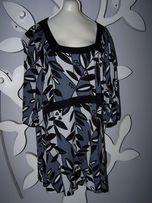 4d03b4704a Bluzka- tunika - sukienka w szarościach H M Mama dla puszystej.