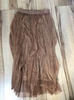 Długa czarna tiulowa spódnica bolerko i pasek Studniówka
