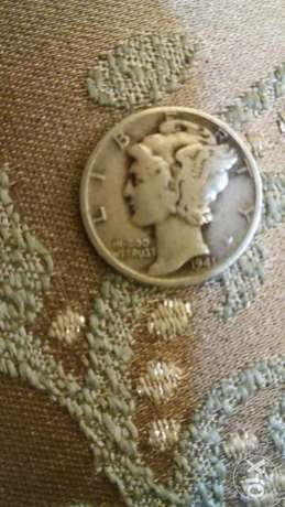 USA silver Dime Coin with the Winged Liberty Head year 1941