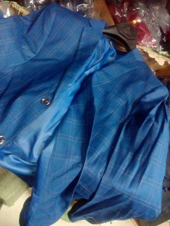Navy Blue Checked suits for men. Smoothly polished wool. FREE DELIVERY Nairobi CBD - image 3