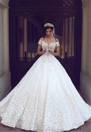Luxury Vintage A-Line White Wedding Dress Bridal Gown Custom Made Alexandra - image 2