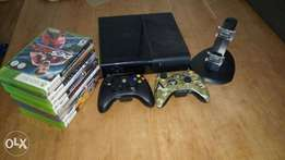 Xbox 360E 500GB + 2 Controllers with Charging Kit + 10 Games