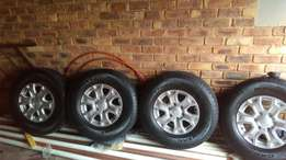 Four Ford ranger rims and tyres for sale