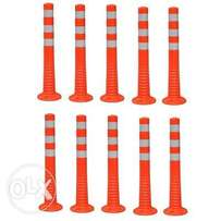 Surface Mount Delineator Reflective Warning Post - 10 Pieces
