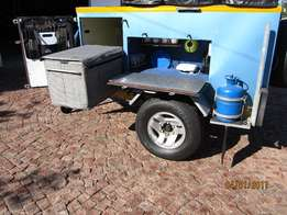 Solid Off road 4X4 Camping Trailer (Galvanized) Read