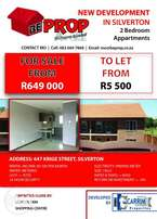 Modern 2 bedroom apartments for sale/to let
