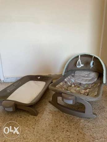 Baby Rocking bed and Diaper Changing Station