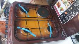3 BURNER with 1 Electric plate MIKA gas Cooker