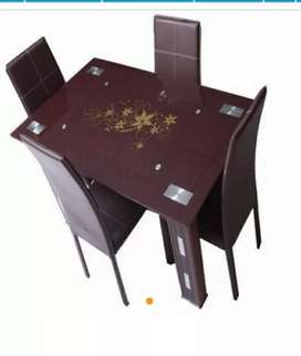 Brand New Imported Set 4 Seaters Dining Table With Chairs
