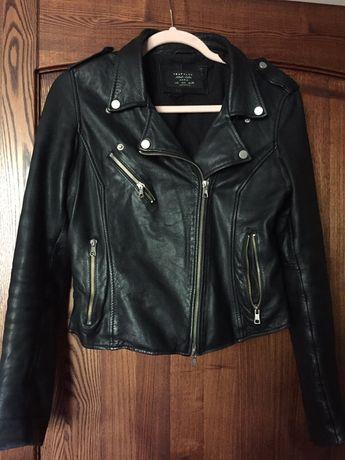 Zara skórzana kurtka ramoneska biker skóra naturalna 40 L