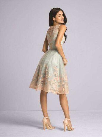 6907841fea sukienka Chi Chi London rozkloszowana koronkowa tiul lou wesele dekolt Łódź  - image 2